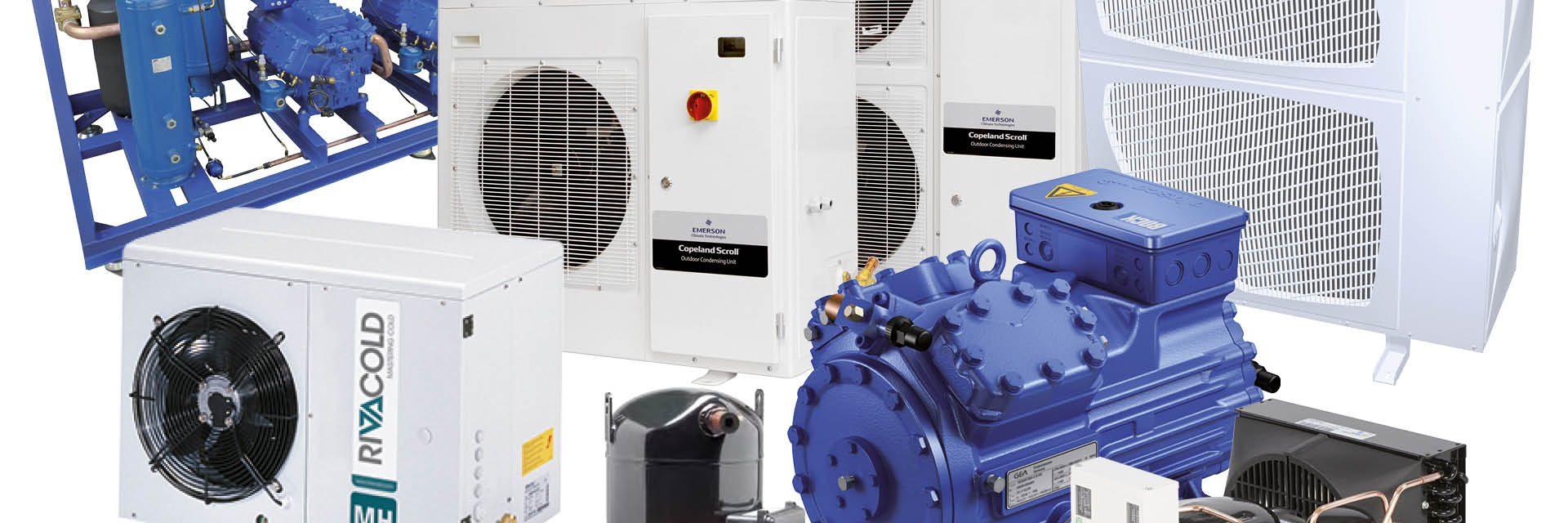 Compressoren, condensing units en unitbouw van Frigro - Gea Bock, Emerson Copeland, Panasonic, Tecumseh, Rivacold