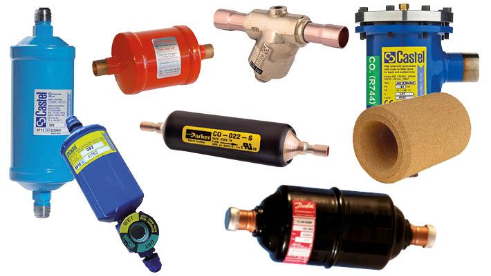 Filterdrogers voor koel- en vriesinstallaties
