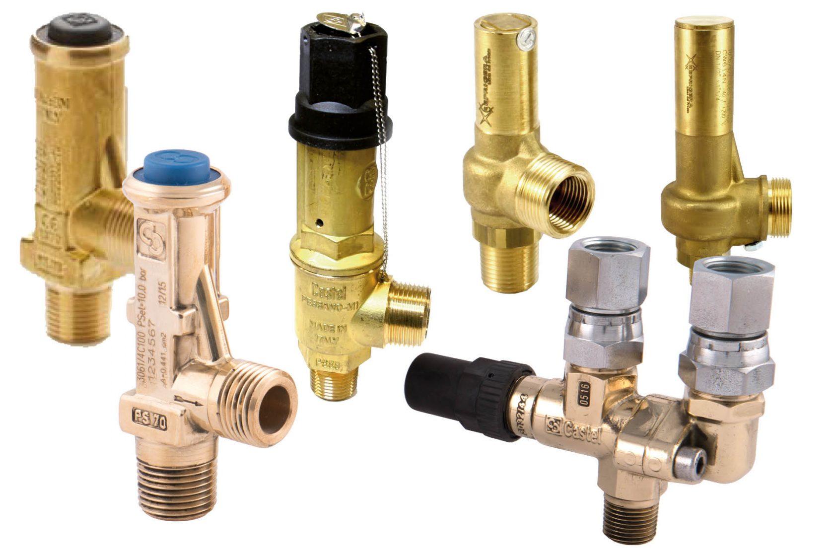 Overdrukventielen en afblaasventielen van Castel en Refrigera zorgen voor een optimale bescherming van uw installatie en componenten tegen te hoge drukken