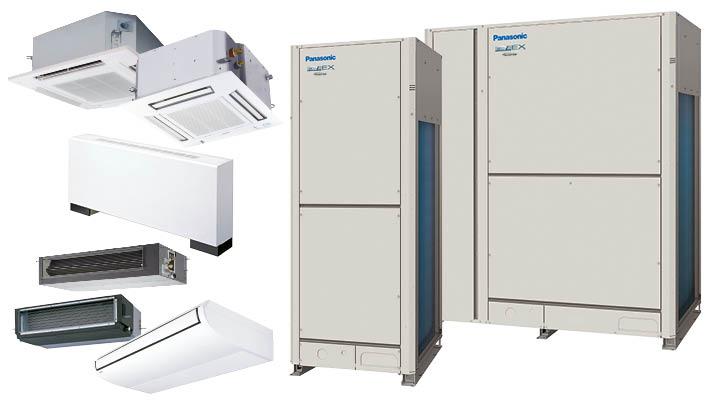 Panasonic VRF luch-lucht warmtepompen voor zakelijke toepassingen