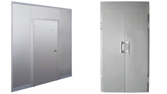 Coldkit Matrix dubbele deur voor remrijskast of bedrijfsdeur voor labo-omgeving