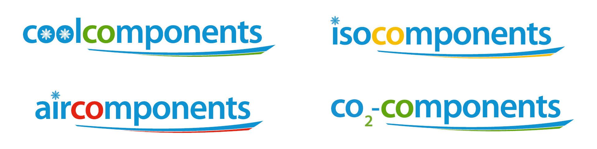 logo's Coolcomponents, Aircomponents, Isocomponents en CO2-Components