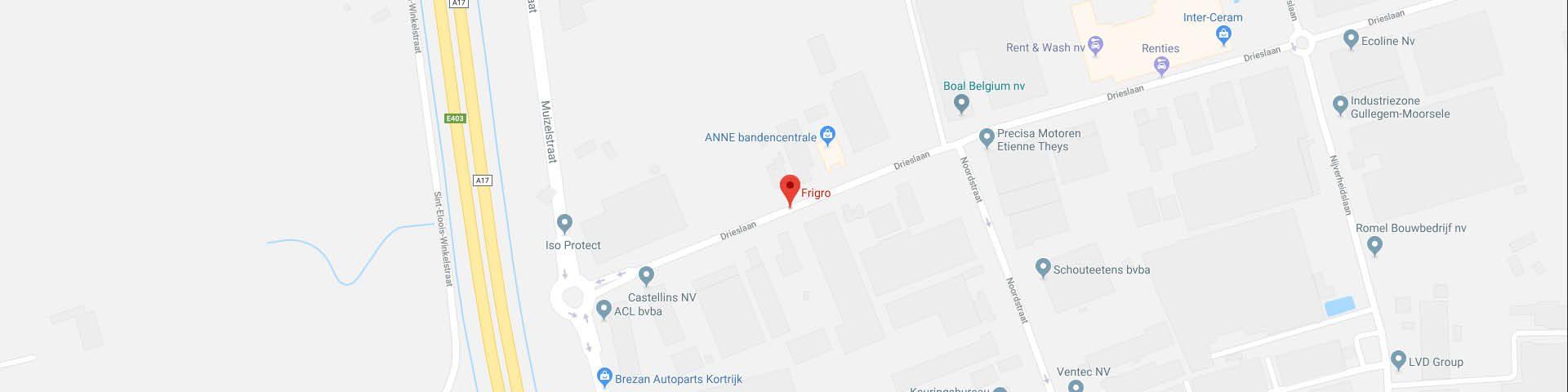 Frigro locatie op Google Maps