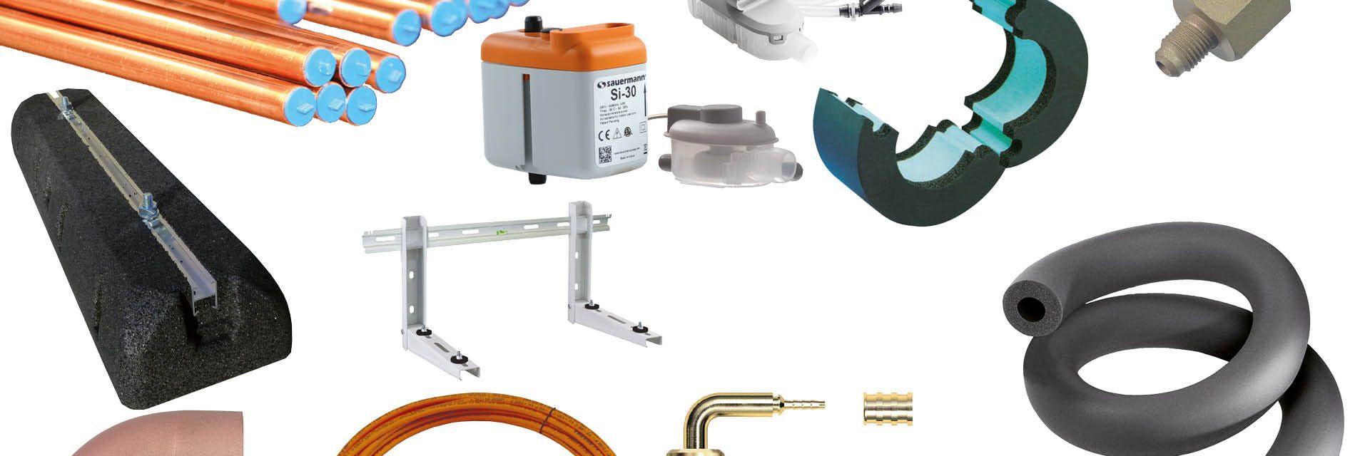 Frigro beschikt over een ruim aanbod van installatiematerialen voor koel- en vriesinstallaties en warmtepompen.