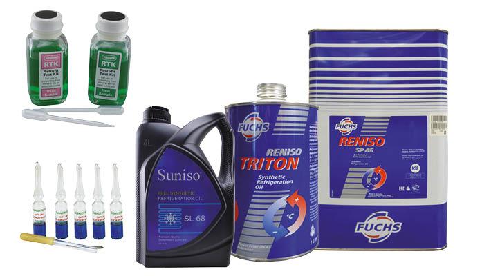 koeloliën, testkits en additieven voor koel- en vriesinstallaties