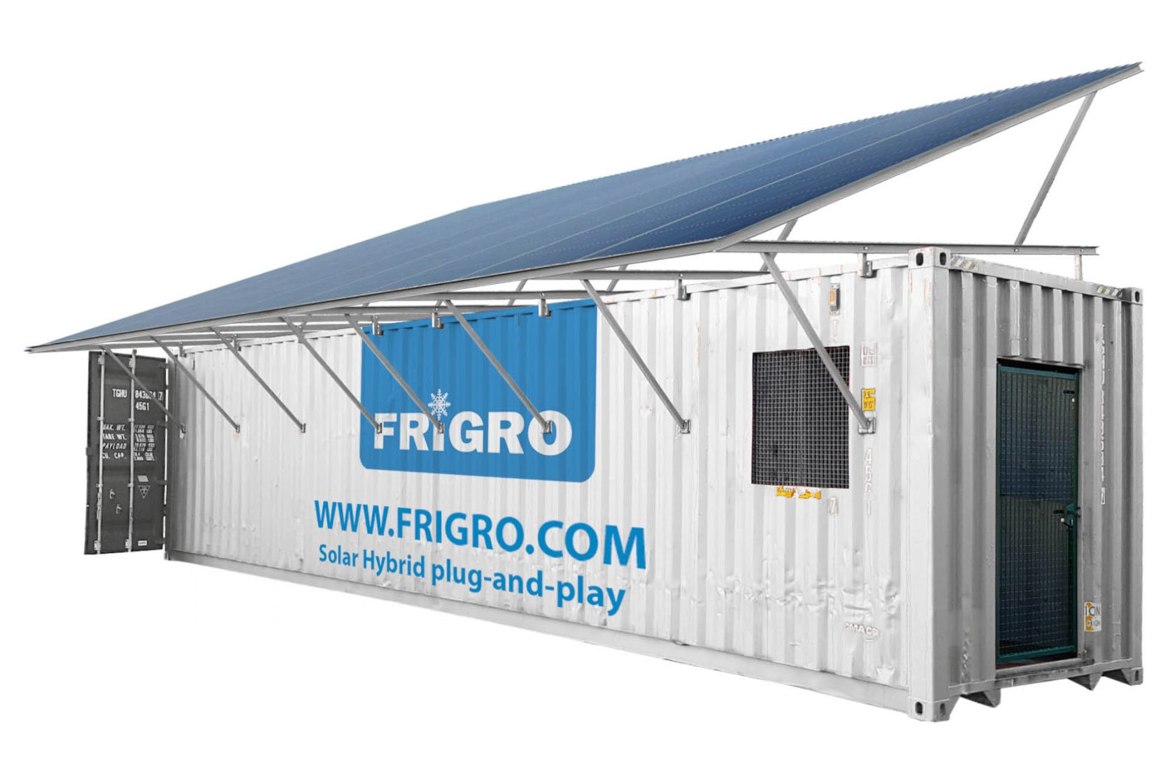 Frigro Solar Hybrid cold room: cooling and freezing on solar energy