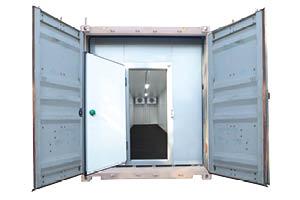 Frigro solar container unit - open