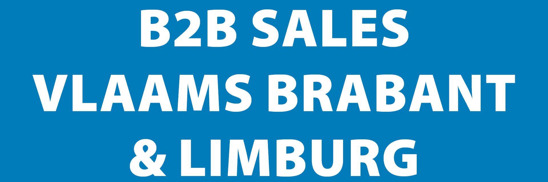 Vacature vertegenwoordiger sales B2B regio Vlaams-Brabant en Limburg
