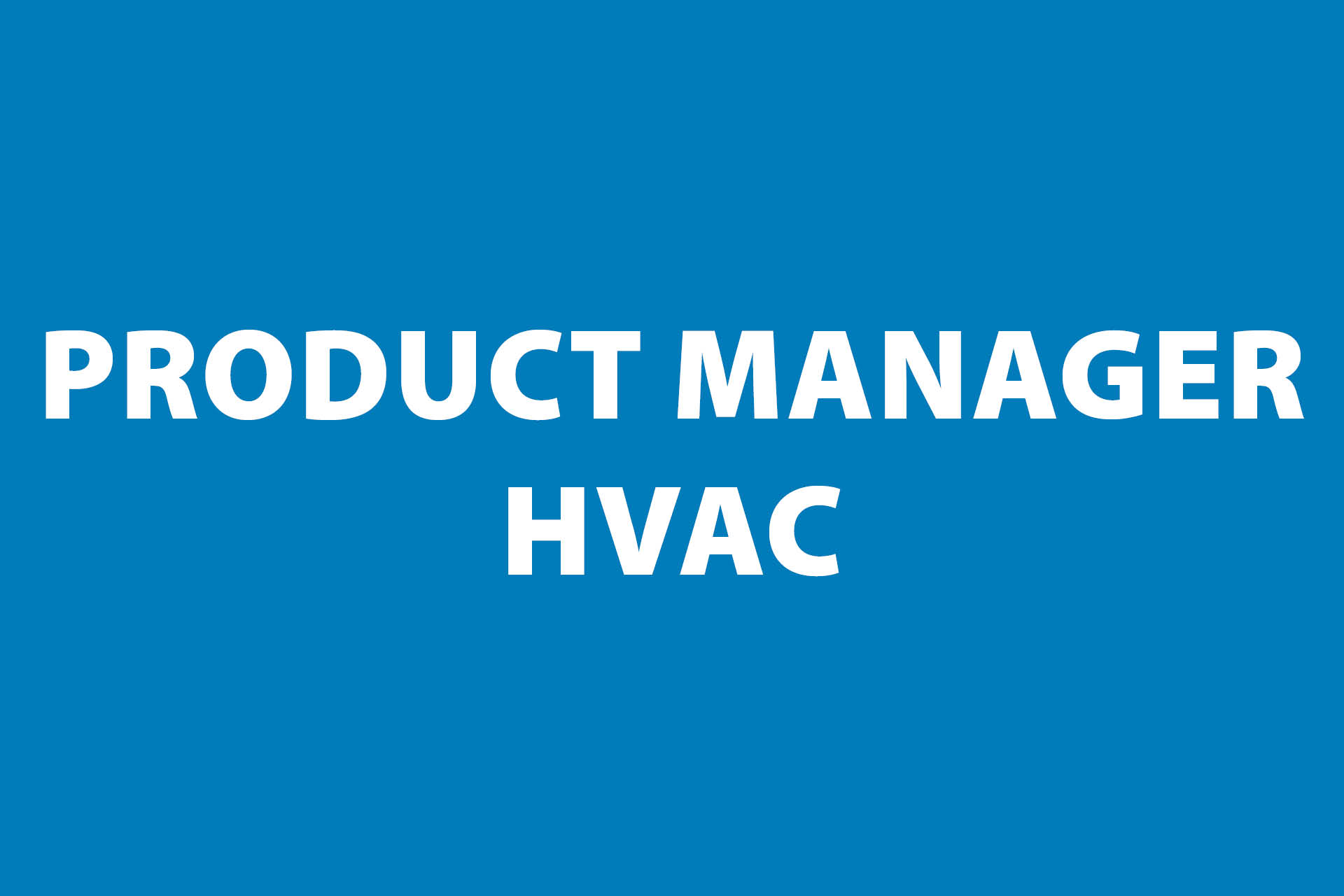 Frigro vacature: product manager HVAC